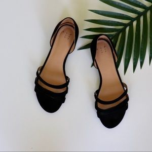 A New Day Black Suede Flats